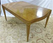Contemporary Burled Wood Dining Table