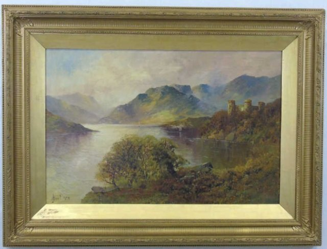 A J Boel 19th C British Landscape Oil Painting