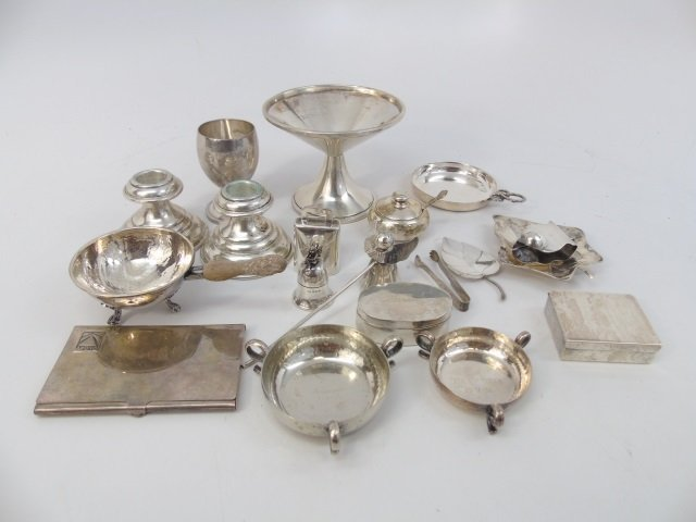 Assorted Sterling & Silver Table Articles