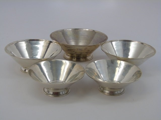 Set of Four 900 Silver Stacking Serving Bowls