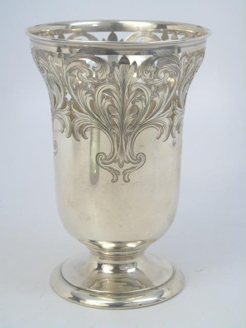 Antique Theodore B Starr Sterling Silver Urn Vase