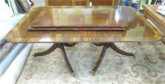 Mahogany Double Pedestal Sheraton Dining Table