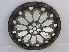 Contemporary Round Gothic Style Wall Mirror