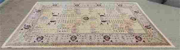 Large Persian  Oriental Knotted Wool Carpet