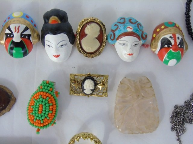 Box Lot  Assorted Costume Jewelry & Treasure Chest - 6