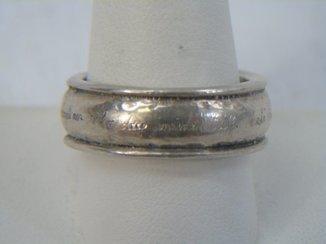 Contemporary Jeanine Payer Hammered Sterling Ring