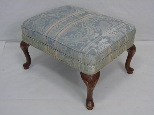 Vintage Queen Anne Style Foot Stool Ottoman
