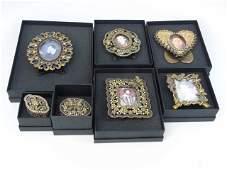 Collection Enamel  Austrian Crystal Table Items