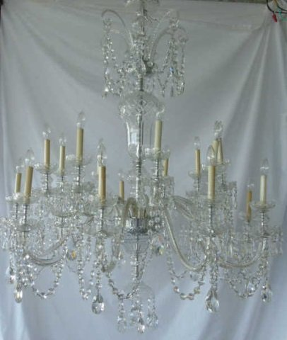 Impressive 18 Arm Waterford Crystal Chandelier