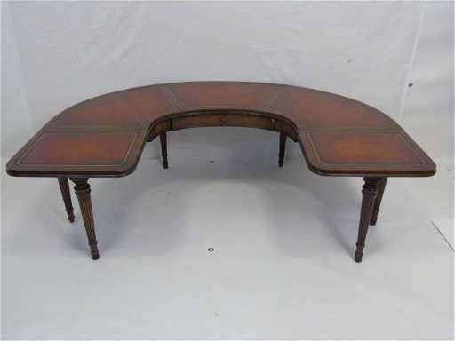 Antique Leather Top U Shape Coffee Table