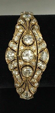 Estate Antique 4.70 Carat Diamond & Gold Bracelet
