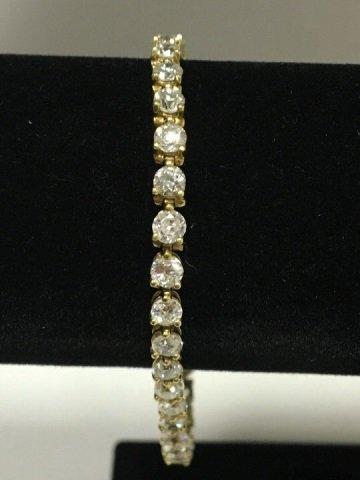 Estate 14kt Yellow Gold 7.4 Carat Tennis Bracelet