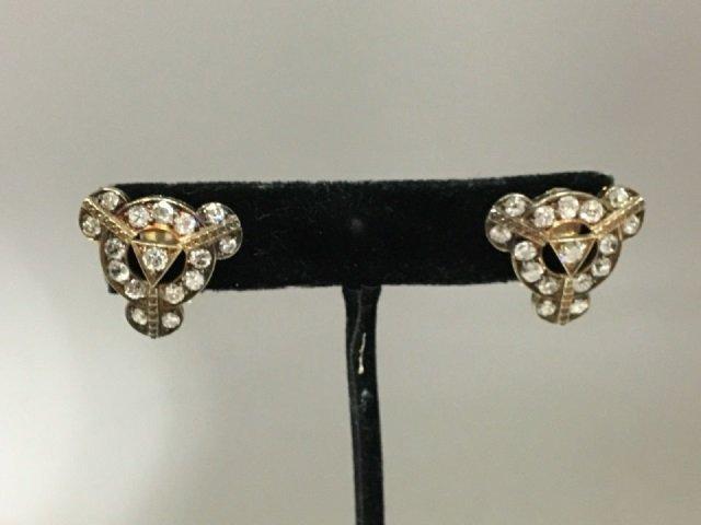 Estate Antique 14kt White Gold 4.8 Carat Earrings - 2