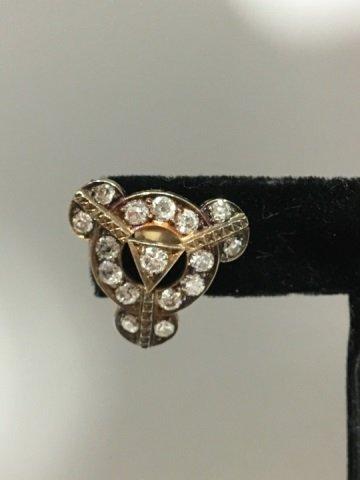Estate Antique 14kt White Gold 4.8 Carat Earrings - 3