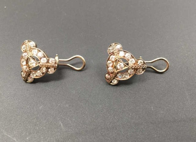 Estate Antique 14kt White Gold 4.8 Carat Earrings - 6