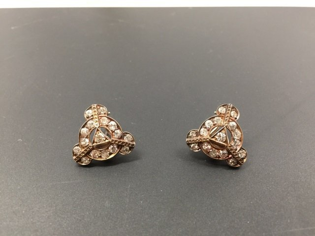 Estate Antique 14kt White Gold 4.8 Carat Earrings - 8
