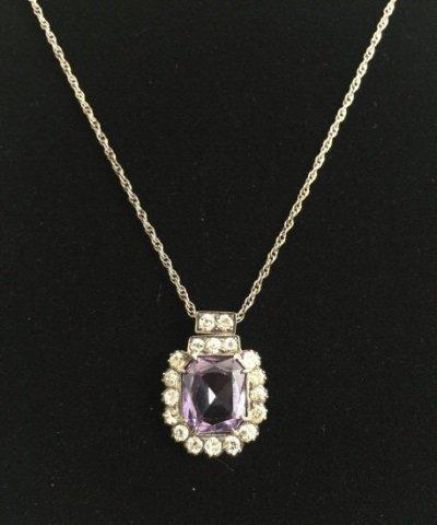 Estate Alexandrite & 4.38 Carat Diamond Pendant
