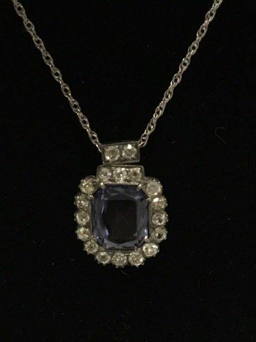 Estate Alexandrite & 4.38 Carat Diamond Pendant - 2