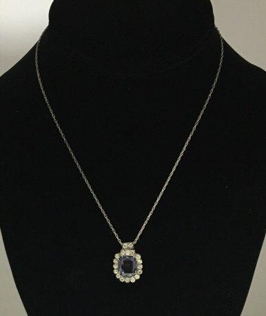 Estate Alexandrite & 4.38 Carat Diamond Pendant - 3