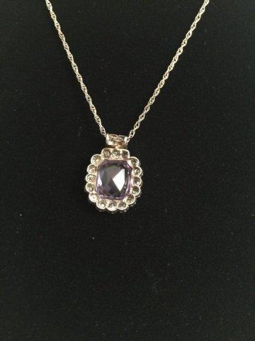 Estate Alexandrite & 4.38 Carat Diamond Pendant - 5