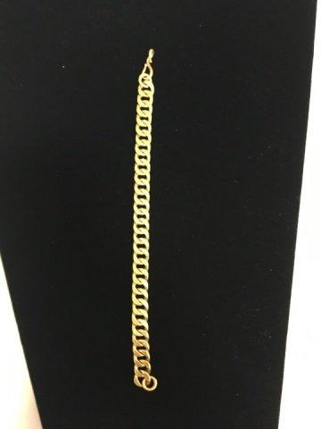 Estate 18kt Yellow Gold Chain Bracelet - 2