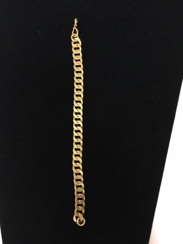 Estate 18kt Yellow Gold Chain Bracelet - 3
