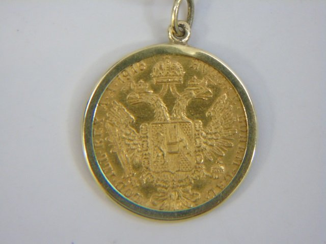 Estate 18kt Yellow Gold Coin Mount Jewelry Suite - 3