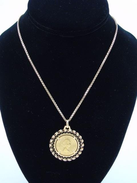 Estate 18kt Yellow Gold Coin Mount Jewelry Suite - 5