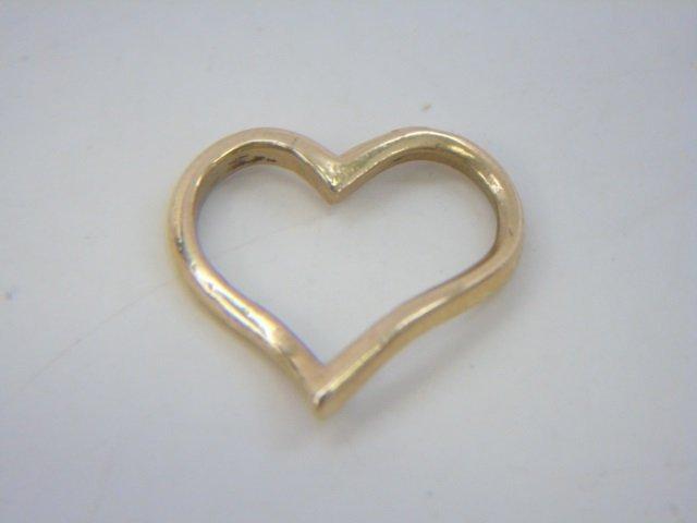 4 Estate 14kt Yellow Gold Heart Pendants / Pins - 5