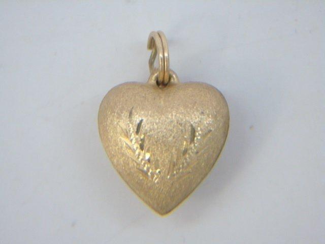4 Estate 14kt Yellow Gold Heart Pendants / Pins - 6