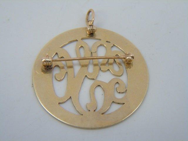 Estate 14kt Yellow Gold Pendant & Earrings Set - 4