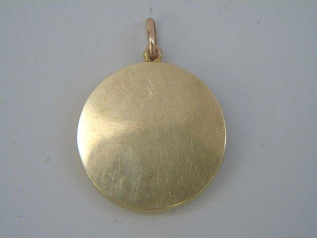 Estate 14kt Gold & Sapphire Pendant - 2