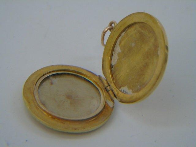 Estate 14kt Gold & Sapphire Pendant - 3