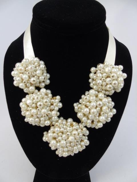 Vintage Chanel Style Pearl Earrings & Necklace - 2