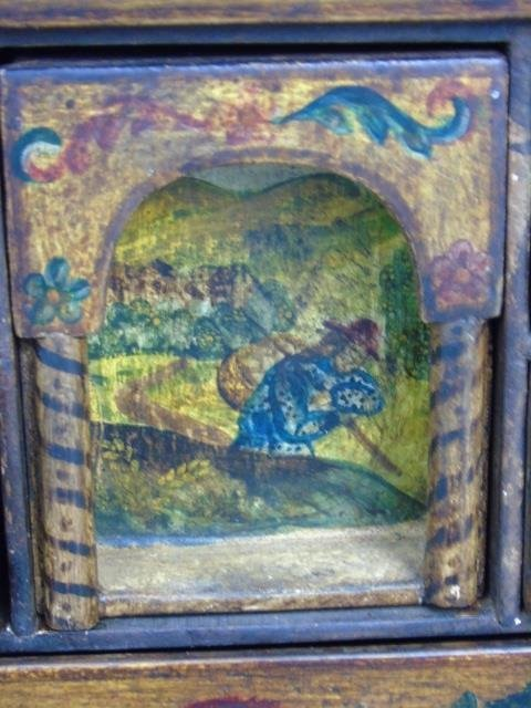 Vintage Hand Painted Jewelry Box on Stand - 3