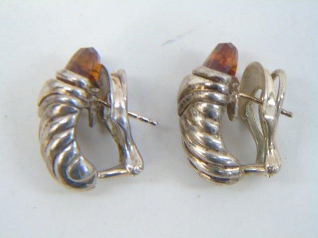 David Yurman Citrine Sterling & Gold Earrings - 3