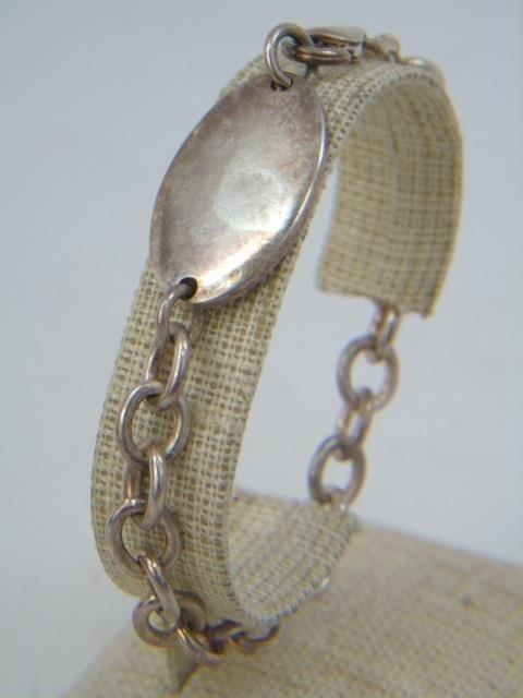 3 Vintage Sterling Silver Charm & Coin Bracelets - 9
