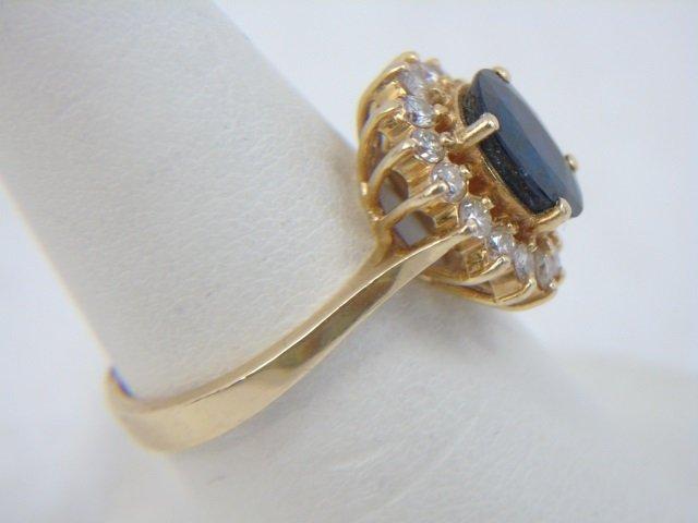 Estate 14kt Yellow Gold Sapphire & Diamond Ring - 5