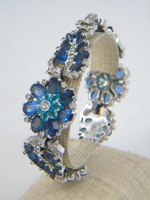 Two Vintage Rhinestone Costume Jewelry Bracelets - 3