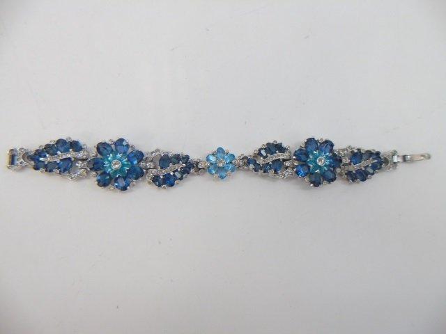 Two Vintage Rhinestone Costume Jewelry Bracelets - 4