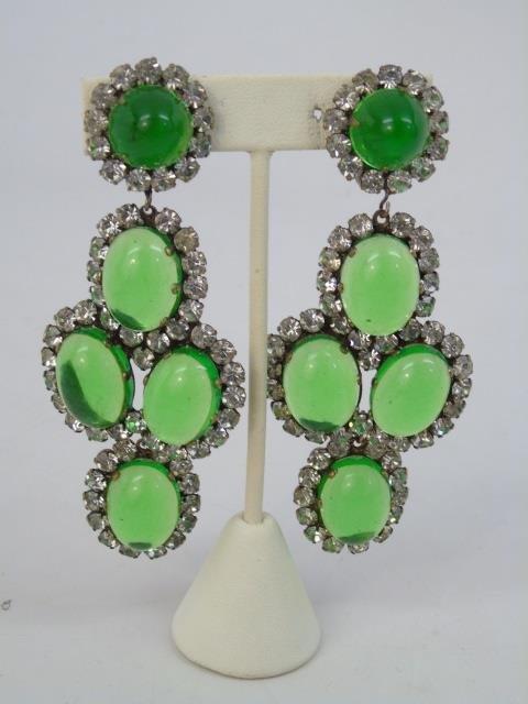 Three Pairs Vintage Kenneth J Lane Earrings - 2