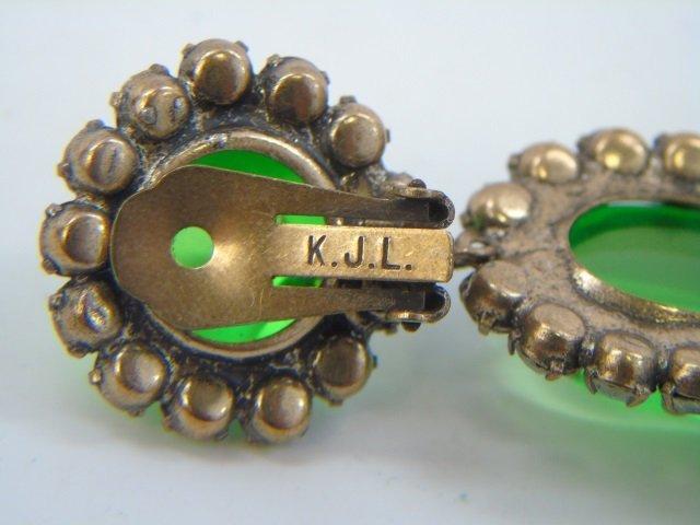 Three Pairs Vintage Kenneth J Lane Earrings - 3