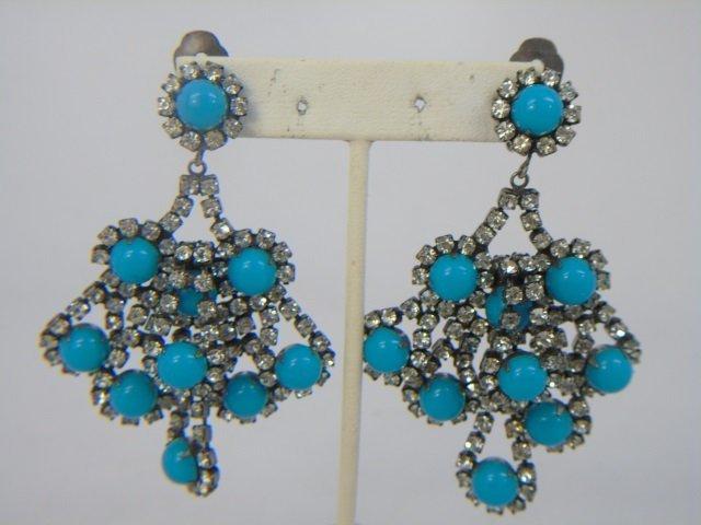 Three Pairs Vintage Kenneth J Lane Earrings - 4