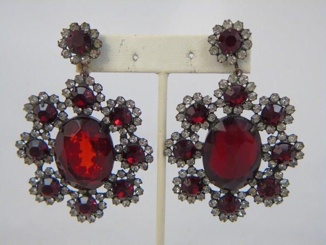 Three Pairs Vintage Kenneth J Lane Earrings - 5