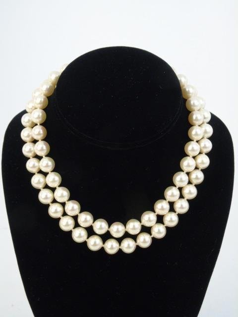 Vintage White Pearl & Sterling Silver Suite - 5
