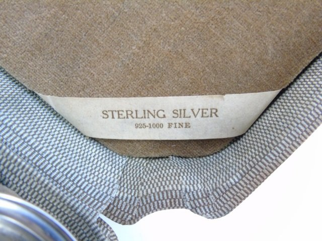 Antique Boxed Set of Sterling Salt Cellars w Spoon - 2