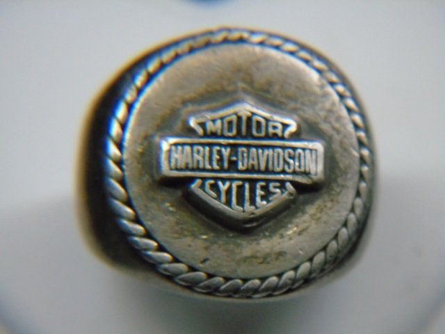 Sterling Silver Harley Davison Ring Size 6 1/2
