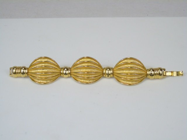 Gold-Toned Linked Swag Bracelet - 2