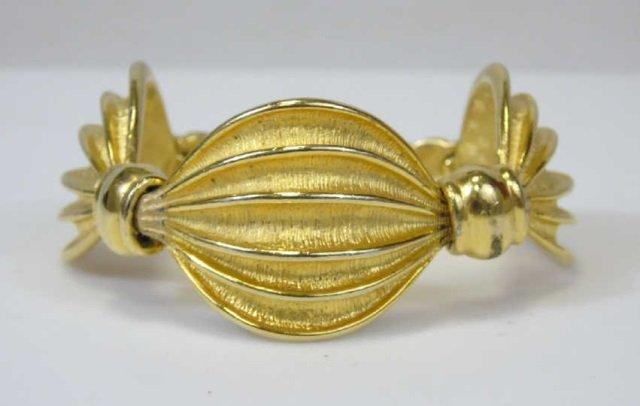 Gold-Toned Linked Swag Bracelet - 3