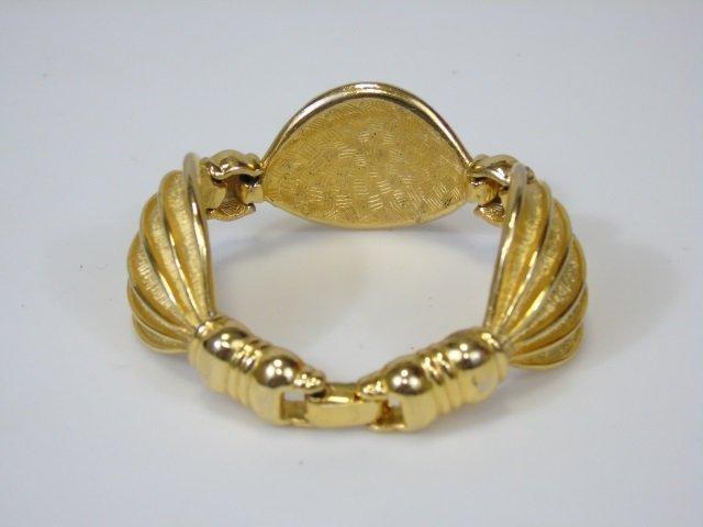 Gold-Toned Linked Swag Bracelet - 4
